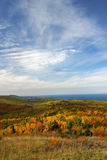 Fall colors from Brockway Mountain Royalty Free Stock Photo