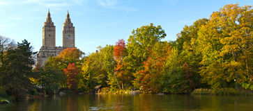 Fall Colors in Central Park, New York City Royalty Free Stock Photography
