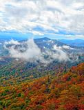 Fall Colors and Clouds on the Blue Ridge Parkway stock images