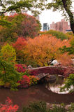 Fall colors at Gapstow Bridge in Central Park. Royalty Free Stock Photos