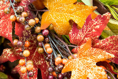 Fall colors home decorations - leaves Stock Image