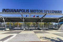 Indianapolis - Circa October 2017: Fall Colors at the Indianapolis Motor Speedway Gate 1 Entrance. IMS Hosts the Indy 500 I royalty free stock image