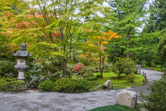 Fall Colors in Japanese Garden Royalty Free Stock Image