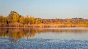 Fall colors lake Stock Photography