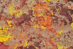 Fall colors leaves printed on paper background