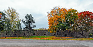 Fall colors in Loviisa, Finland Royalty Free Stock Image