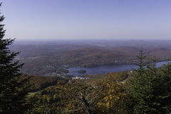 Fall colors from a mountain top Stock Image