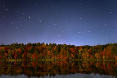 Fall colors at night Royalty Free Stock Photography