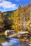 Fall Colors Orange Reflection Wenatchee River Washington Stock Images
