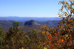 Fall colors overlooking Looking Glass Rock Royalty Free Stock Images