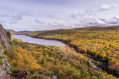 Fall colors at Porcupine Mountains Stock Photography
