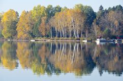 Fall Colors Reflected on a Lake Royalty Free Stock Photography