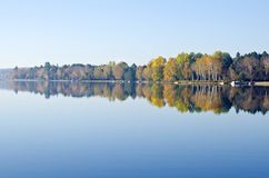 Fall Colors Reflected on a Lake Stock Image
