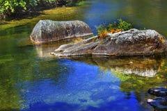 Fall Colors Reflection Wenatchee River Washington Royalty Free Stock Image