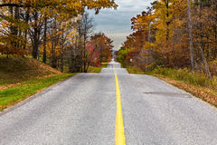 Fall Colors. Road with colorful trees in fall Stock Photos