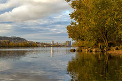 Fall Colors at Sellwood Riverfront Park Stock Photography