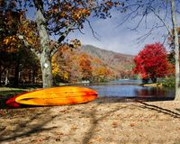 Fall Colors at Sherando Lake Western Virginia Royalty Free Stock Photography