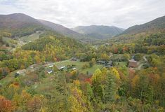 Fall colors in the Smokies Stock Photos