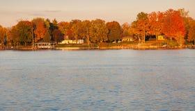 Fall Colors South Detroit River Stock Photos