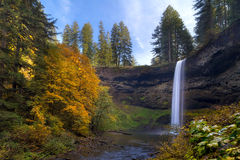 Fall Colors at South Falls. Falls Colors ar South Falls in Silver Falls State Park Royalty Free Stock Photo