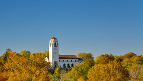 Fall colors surround the Boise Train depot Royalty Free Stock Photography