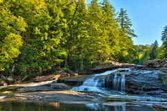 Fall Colors at Swallow Falls in Swallow Creek State Park, Maryland Stock Images