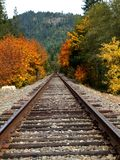Fall Colors - Train Tracks royalty free stock photography