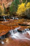 Fall Colors and Waterfalls Stock Images