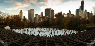 Fall colors at Woolman Rink in Central Park. New York City Stock Images