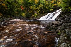 Mary Ann Falls on the Cabot Trail in autumn royalty free stock photos