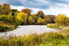 Fall colours of the Credit River. Stock Photography