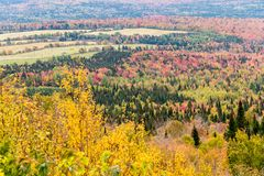 Fall colours from Mount Megantic stock photos