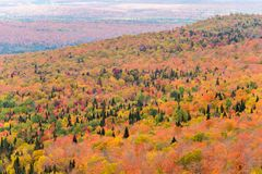 Fall colours from Mount Megantic stock photography