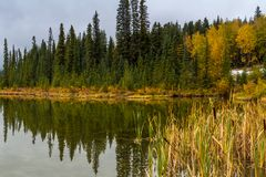 Vermillion Lakes, Banff National Park, Alberta, Canada Royalty Free Stock Photography