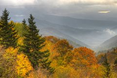 Fall Comes To The Great Smoky Mountains National Park. Royalty Free Stock Photo
