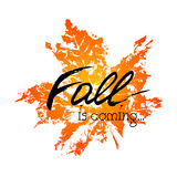 Fall is coming card Stock Image