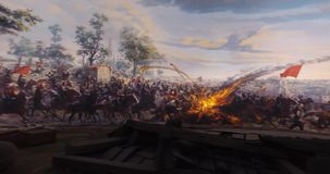 Fall of Constantinople stock footage