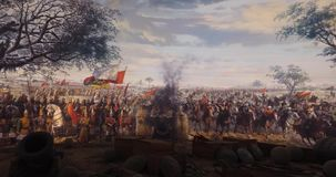 Fall of Constantinople in 1453 stock video