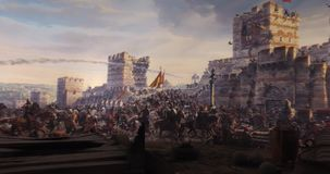 Fall of Constantinople in 1453 stock video footage