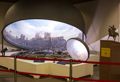 Fall of Constantinople. ISTANBUL, TURKEY - 6 JUNE , 2016:Fall of Constantinople in 1453. Captured by Mehmet. Panorama Museum Military, Istanbul, Turke stock images