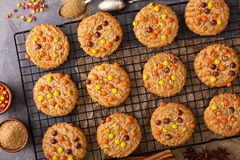 Fall cookies with candy Royalty Free Stock Photography
