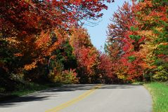 Fall Country Road Royalty Free Stock Photos