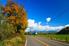 Fall country road, Sultan Washington Stock Images