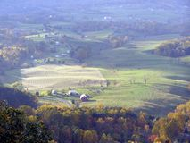 Fall Countryside. Valley view from Skyline Drive on the Blue Ridge Parkway in Virginia in the Fall Stock Photo