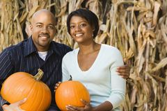 Fall couple portrait. Royalty Free Stock Photography