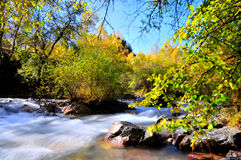 Fall Creek. 2014.10.1 on china  Fall Creek Royalty Free Stock Photo