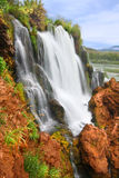Fall Creek Falls Idaho. Fall Creek Falls flows into the Snake River in the Caribou National Forest of Idaho Stock Image