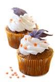 Fall cupcakes Royalty Free Stock Photos