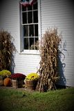 Fall Decor In Small Town America royalty free stock photography