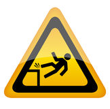 Fall danger sign. Fall danger warning sign illustration Stock Image